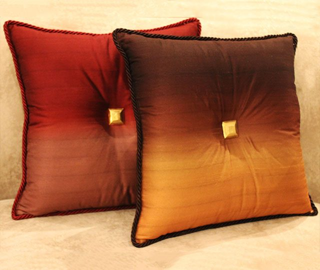 ombre-button-cushions