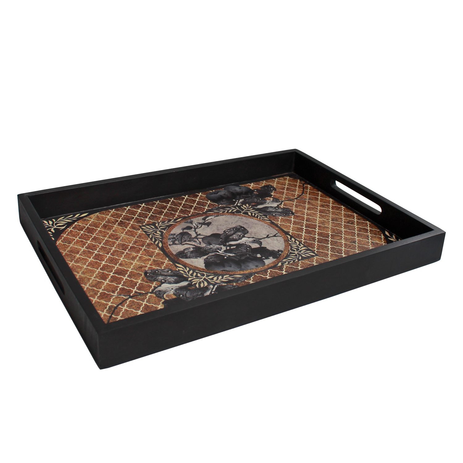 Afreen tray brown_01