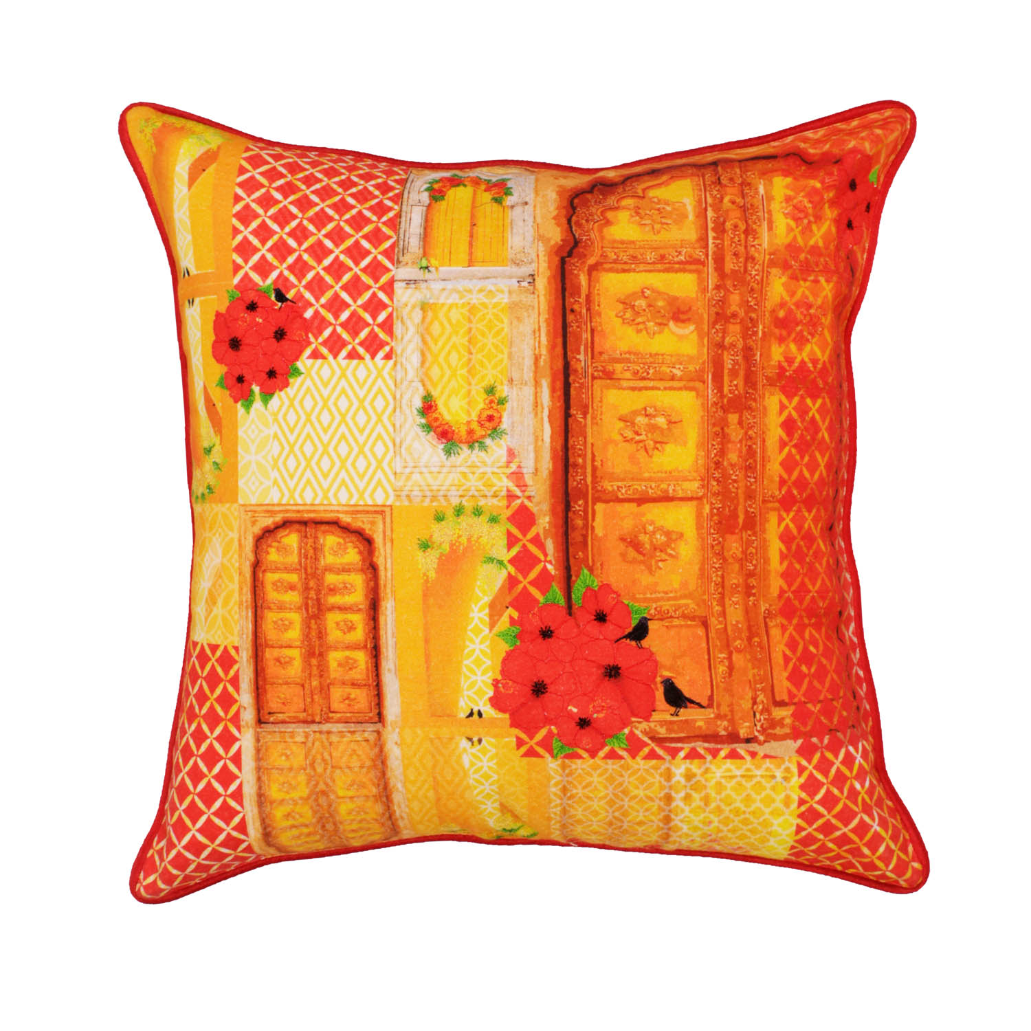 songs of summer cushion Red