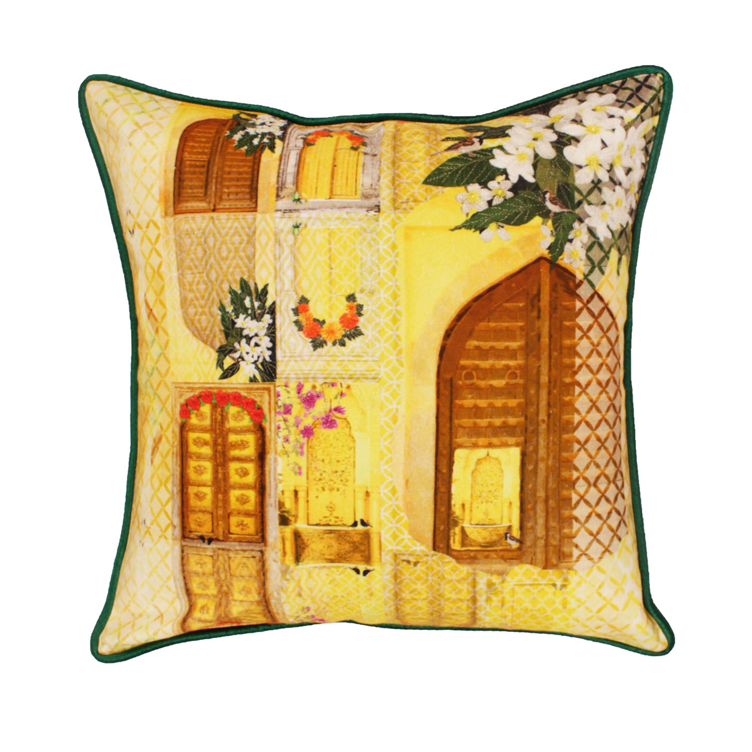songs of summer cushion green