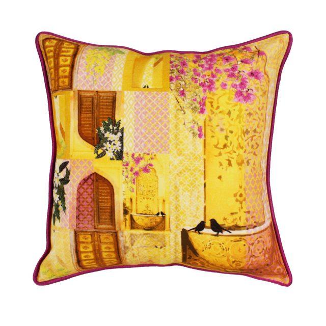 songs of summer cushion purple