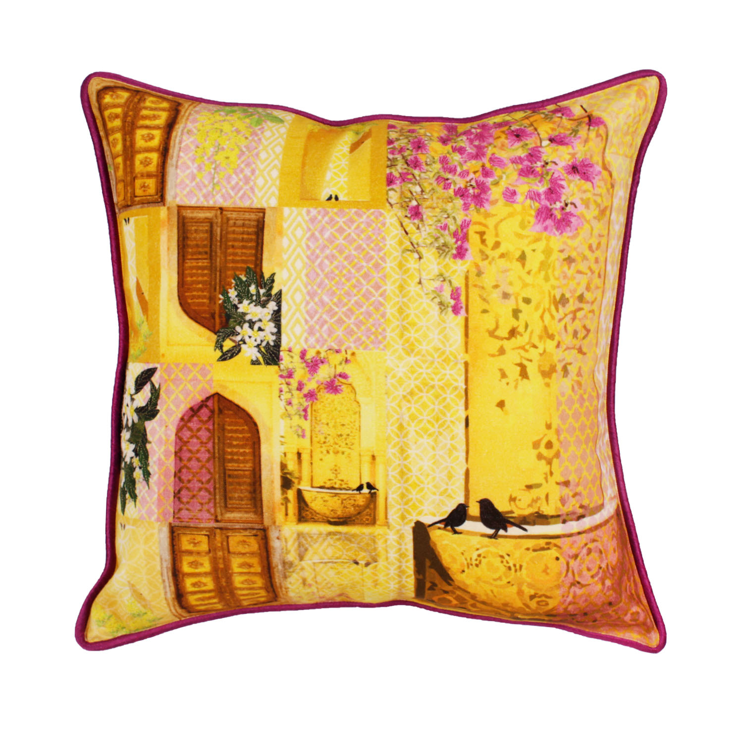 songs of summer cushion purple