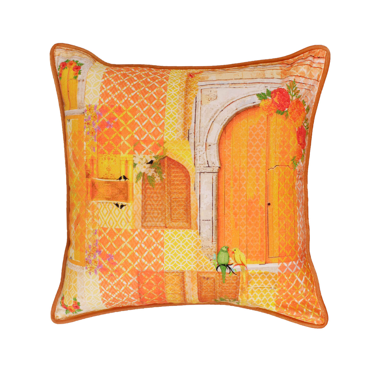 songs of summer cushion yellow
