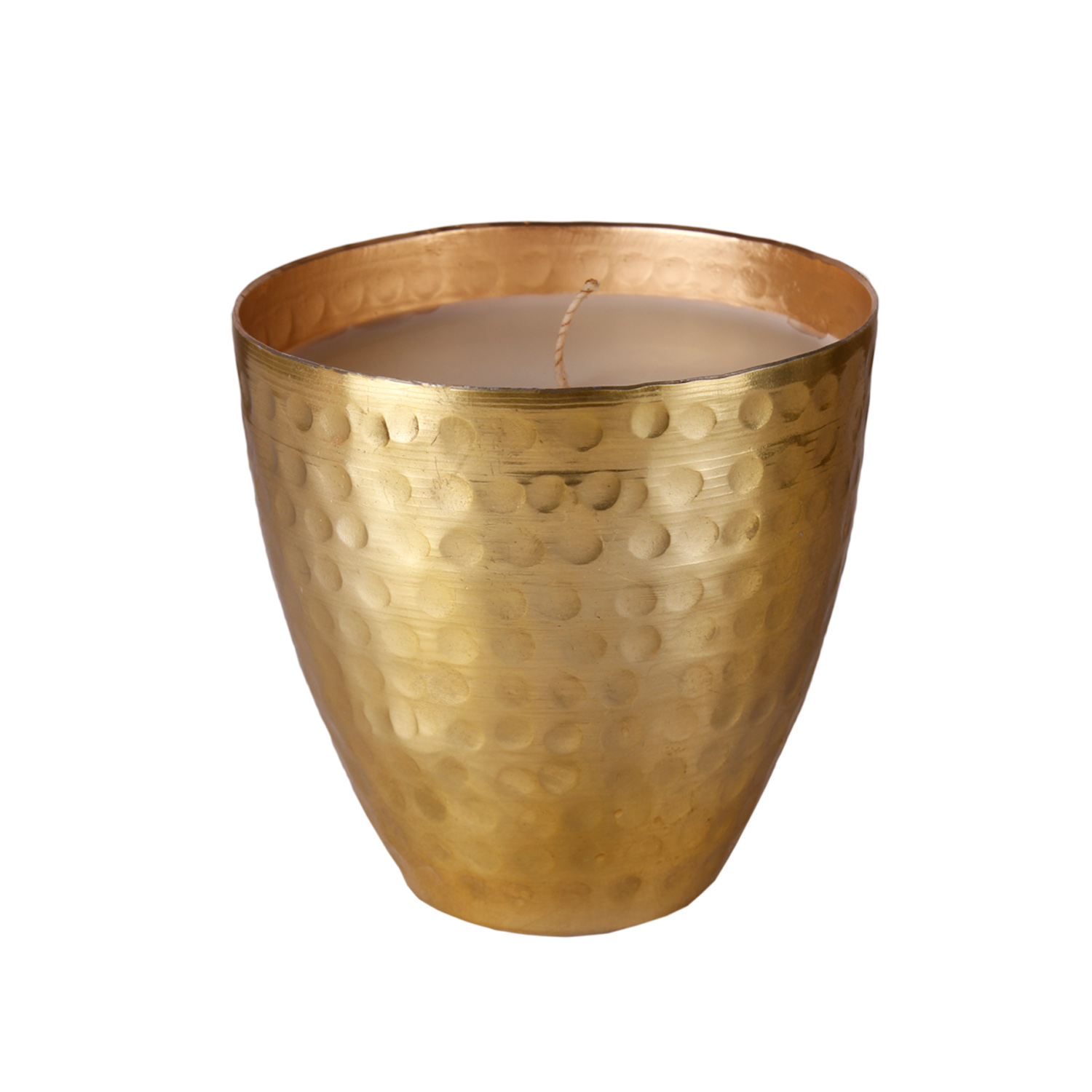 Hammerd brass candle large