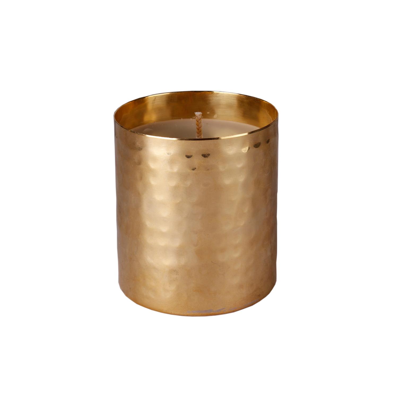 Hammerd brass candle
