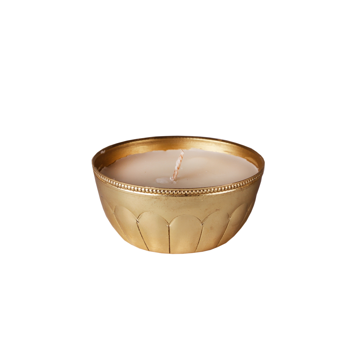 golden bowl candle
